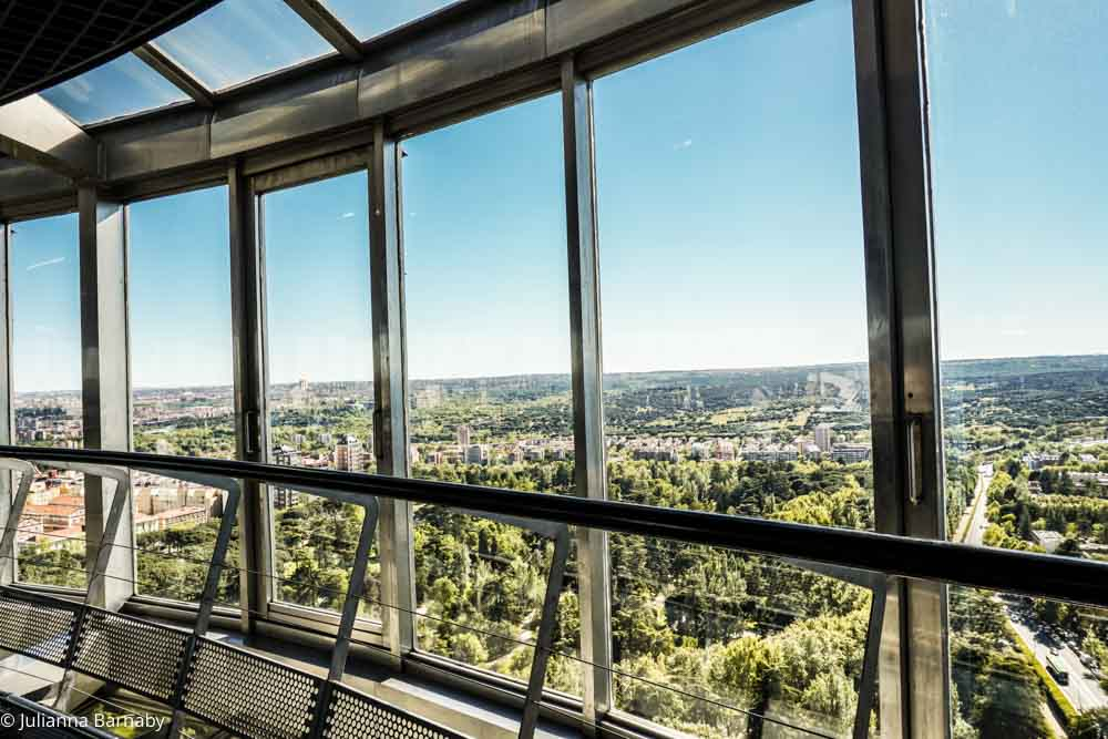 Views of Madrid from the Faro de Moncloa