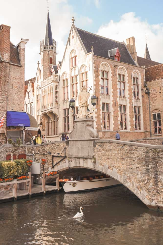 Bridge over canal Bruges
