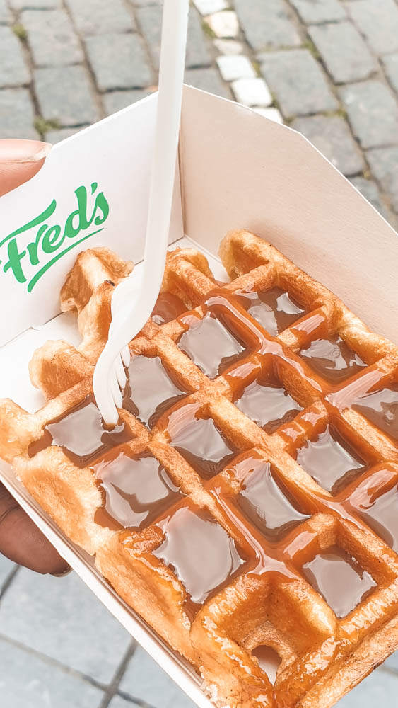 Waffle from Fred's Waffles Bruges