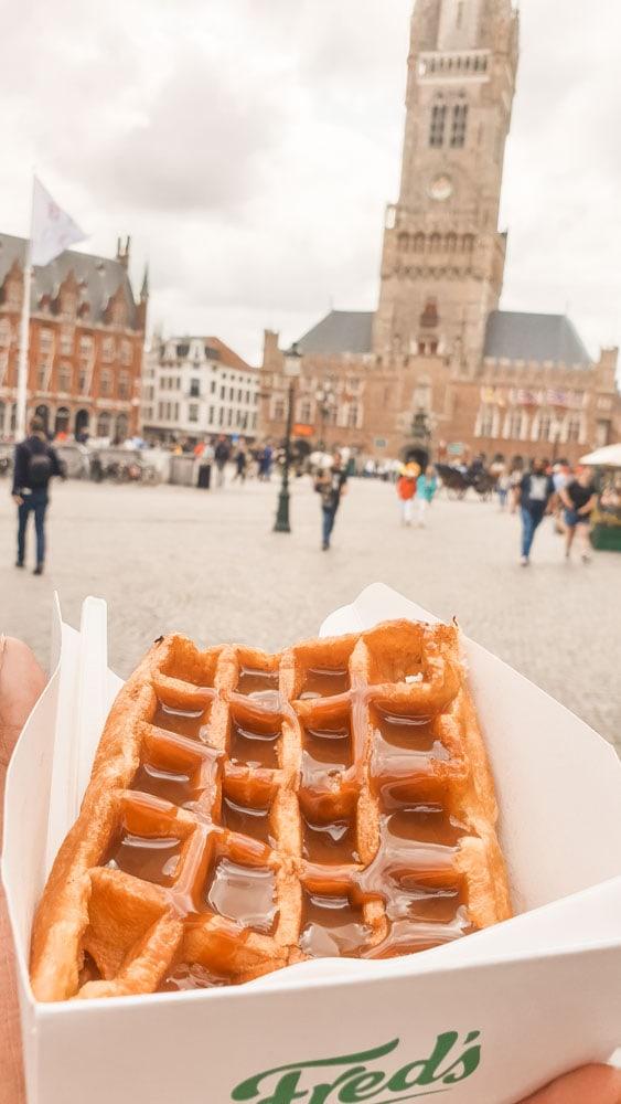 Belgian waffles in Bruges