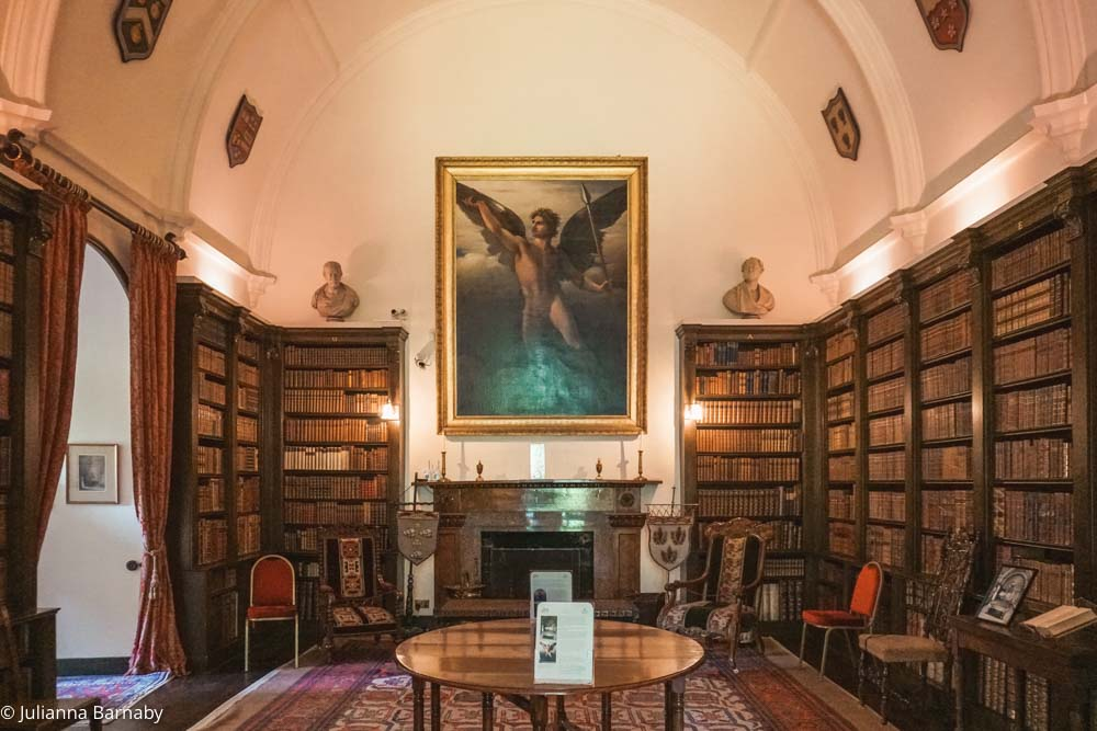 Hugh Irvine's portrait sits in the library