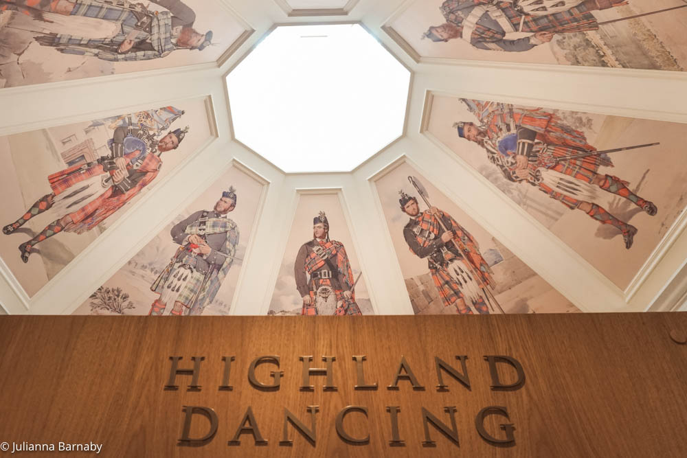 Inside the Braemar Highland Games Centre