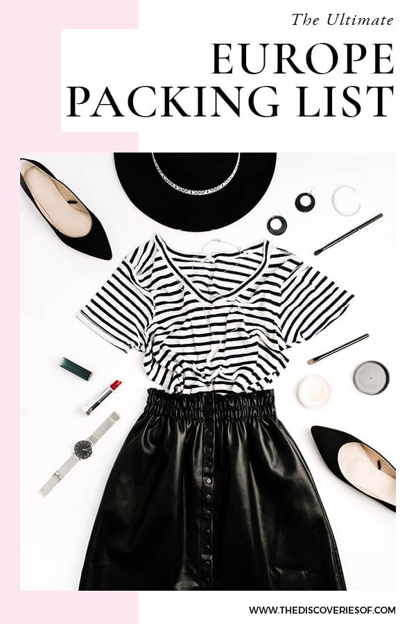 Europe Packing List - What to Pack