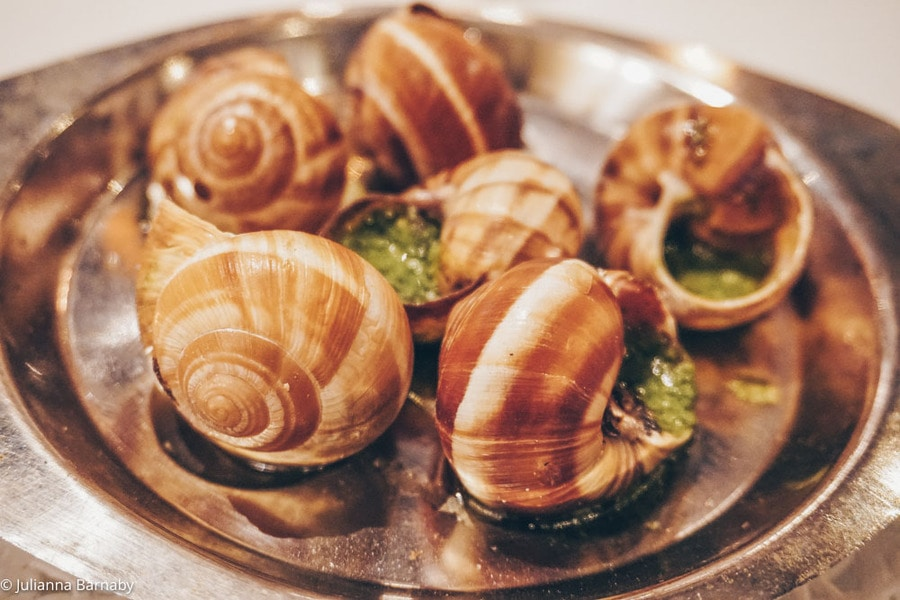 Escargots at the Hotel de France
