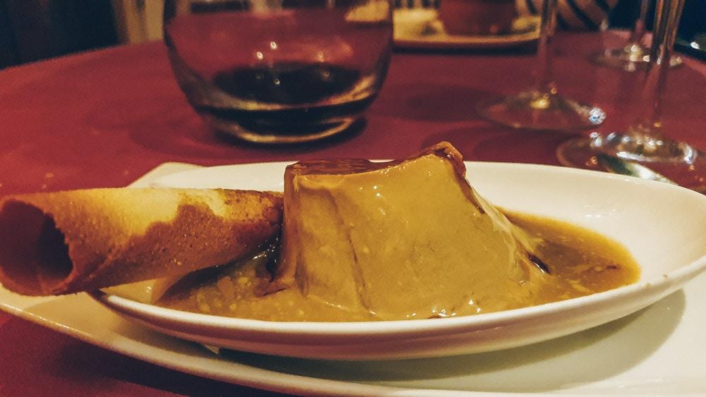 Flan at Casa Rufo Bilbao