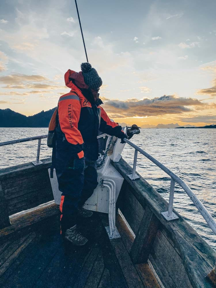 Sailing towards Vestfjorden