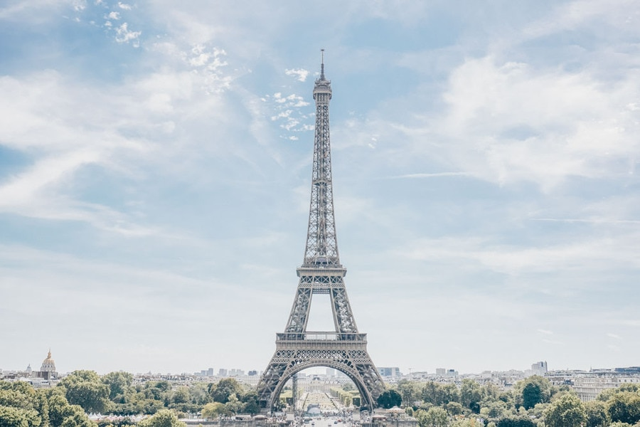 View of the Eiffel Tower from Trocadero