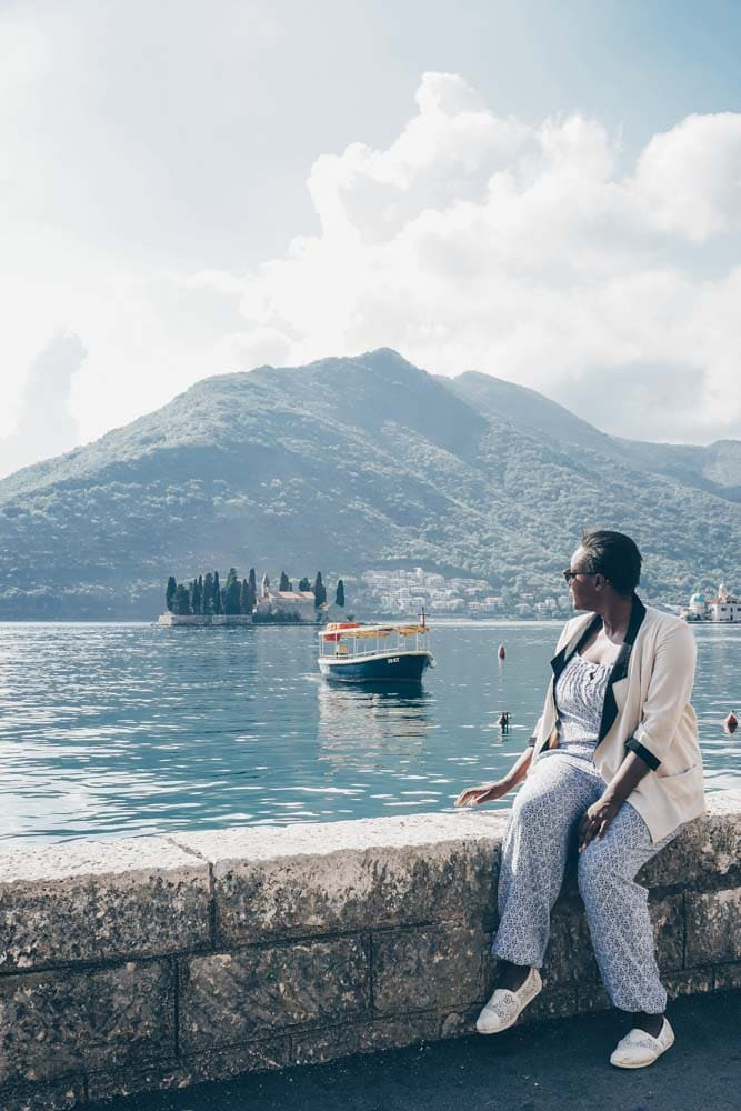 Julianna  Barnaby in Perast, Montenegro