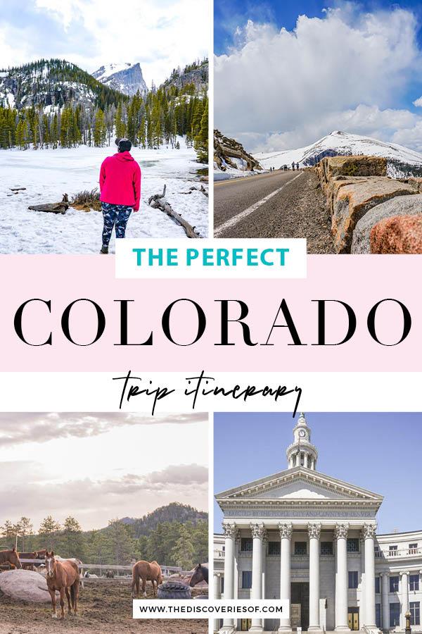 Colorado Itinerary - things to do