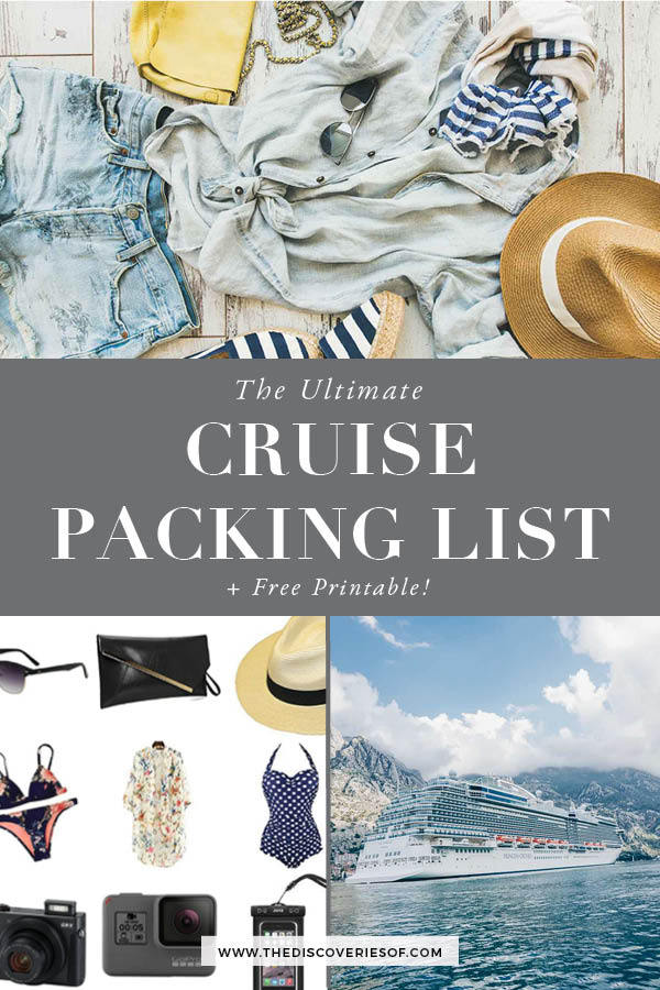 Cruise Packing List 1