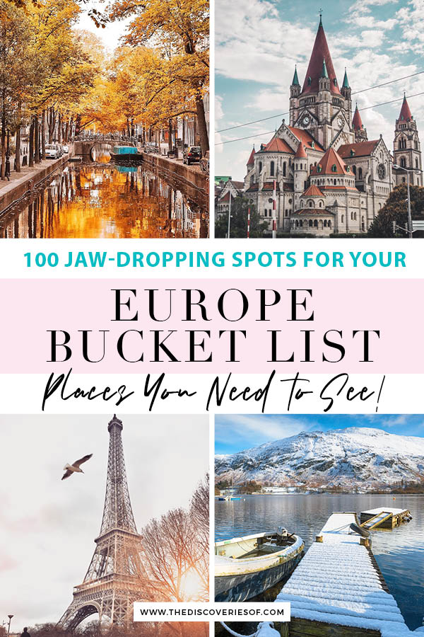 Europe Bucket List - Things to do