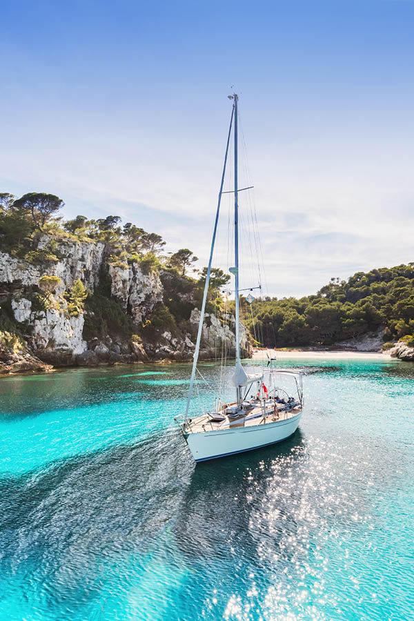 Boat ride in Menorca