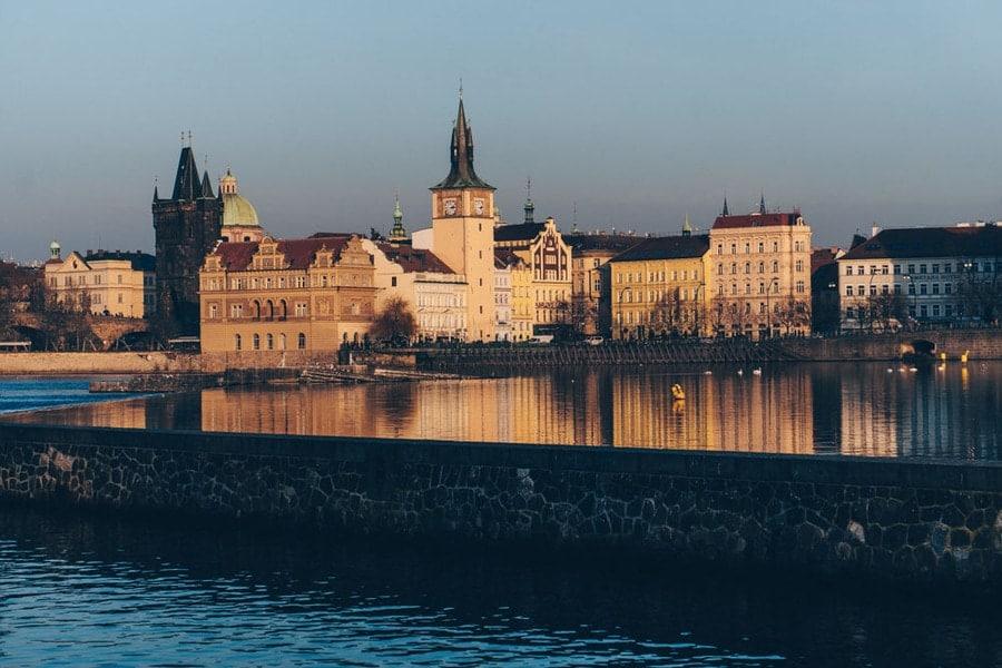Views of Prague in Winter