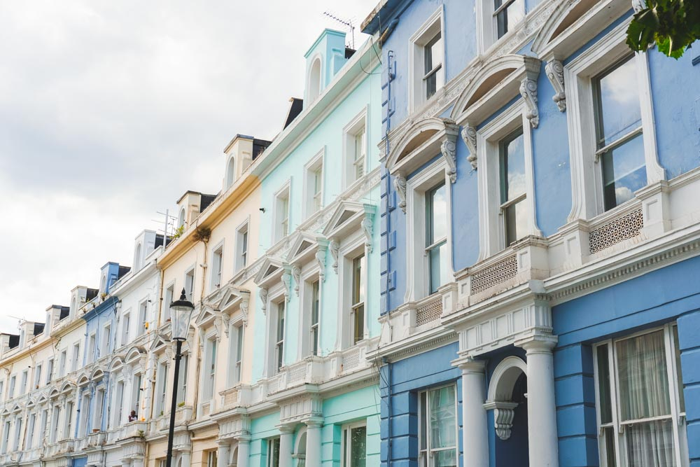 Colourful houses Notting Hill