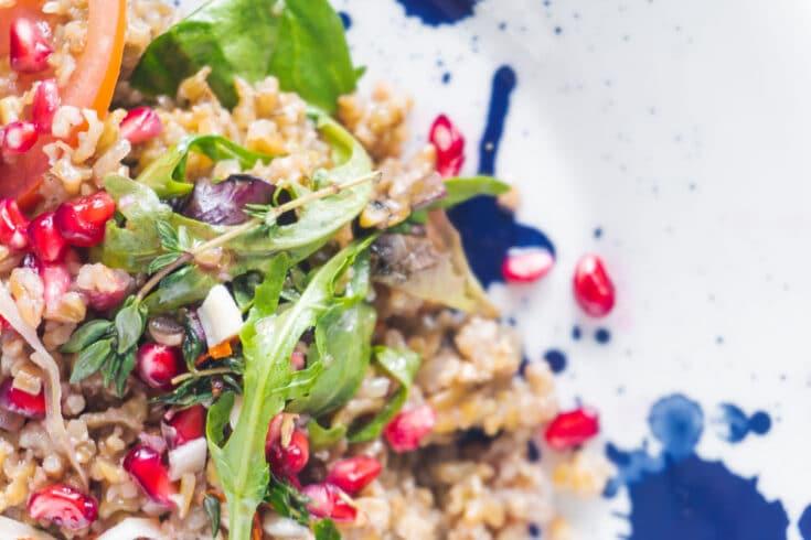 Pomegranate Freekeh Salad