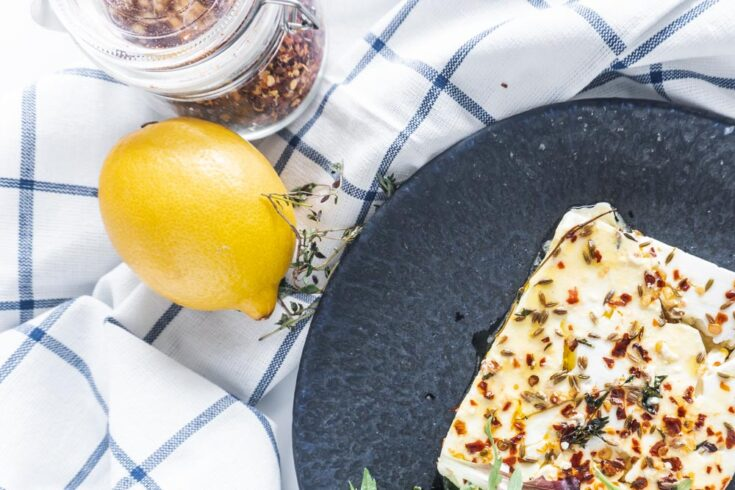 Baked Feta Cheese with Chilli and Thyme Recipe