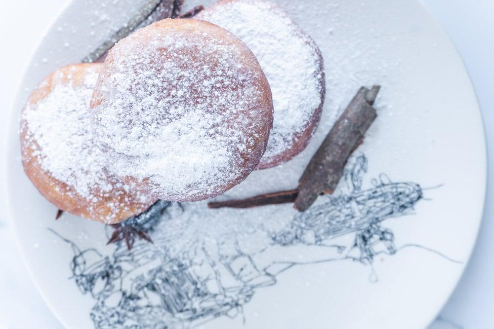 Irresistible Spiced Blackcurrant Jam Doughnuts