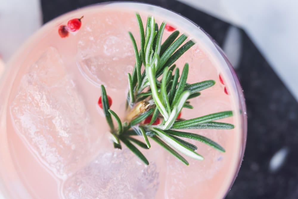 Grapefruit & Rosemary Gin Cocktail