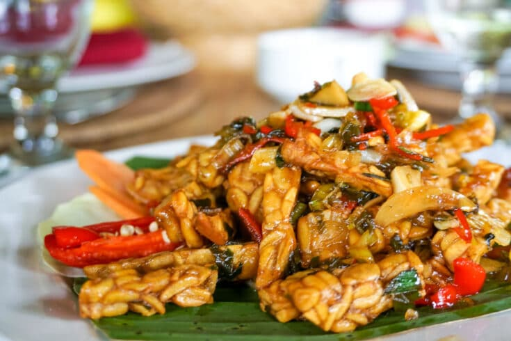 Indonesian Style Sweet and Sour Tempeh (Kering Tempeh)
