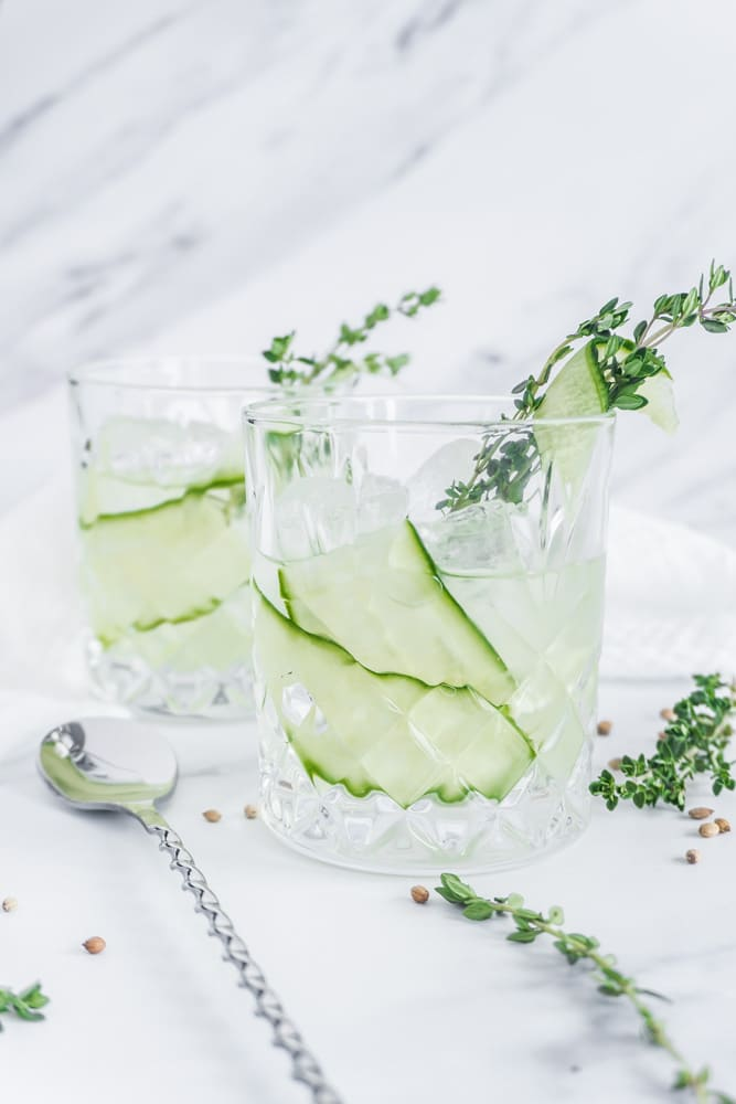 Thyme Cucumber Gin Cocktail