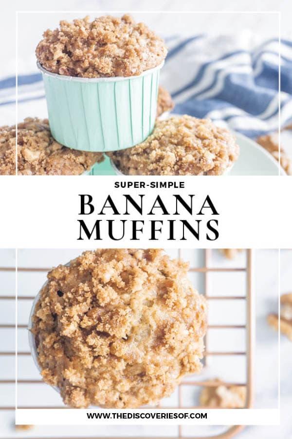 Banana Muffins Crumb Topping